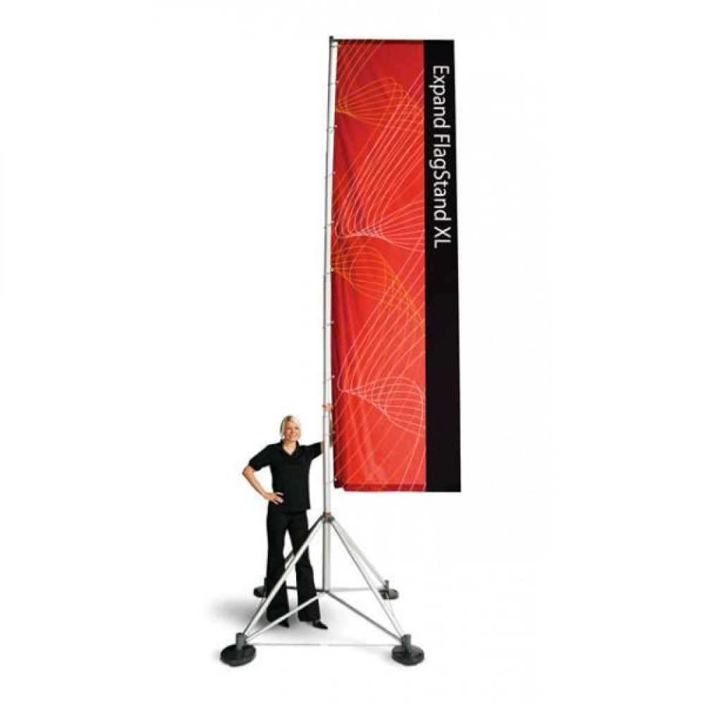 Expand Flag Stand XL Extra Tall Outdoor Banner Stands