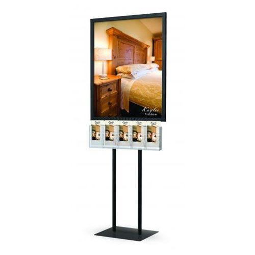 Poster Stand With Brochure Holders