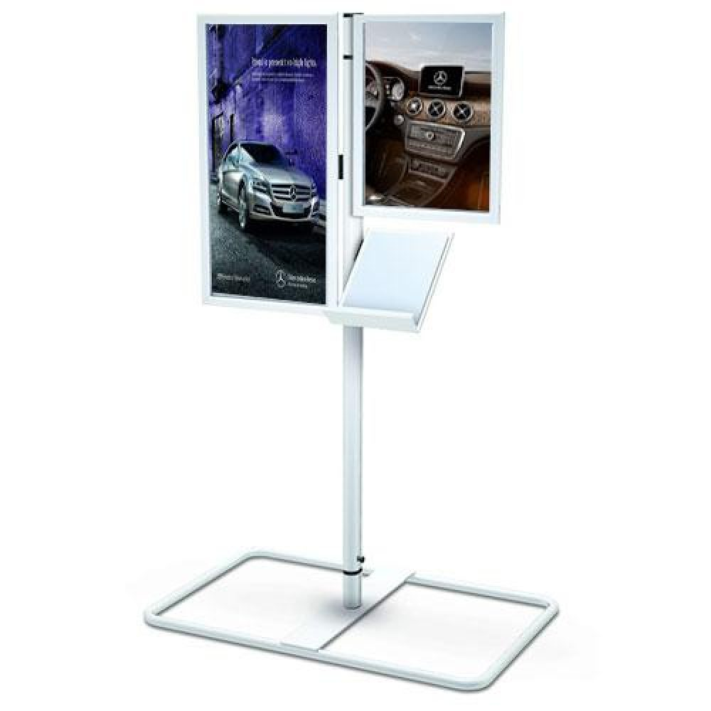 Marketing Holders 4W x 6H Sign Holder Double Sided Indoor to Outdoor Suction Cups Advertising Signage Hours of Operation Directions Window Mount Photo Notices Small Signs
