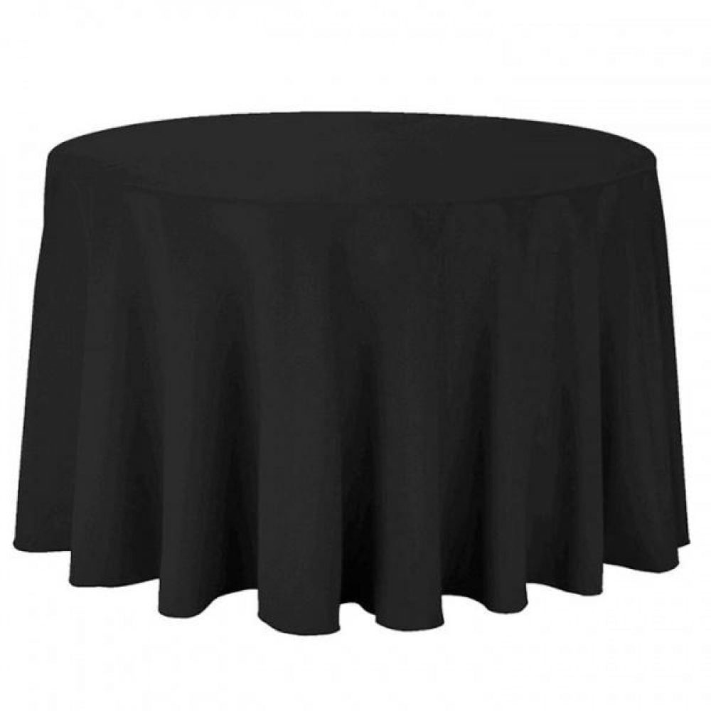 Black Round Table Cloth Throw Drape