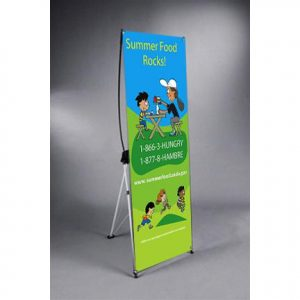 x banner stand trade show
