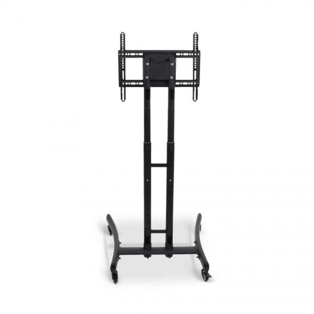 Adjustable-Height Rolling TV Stand