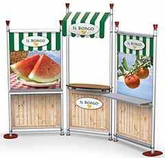 grocery store display advertising graphics