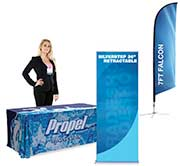 Tablecloth and Banner Stand