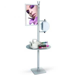 cosmetic display stand shelves