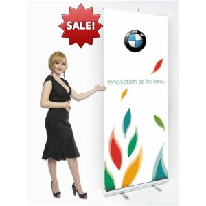 Economy Retractable Banner Stand with Vinyl Graphic
