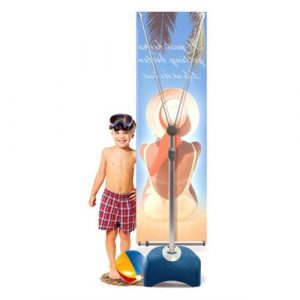 Outdoor banner stand for trade shows