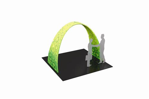 10 Ft Arch Fabric Display System For Tradeshows
