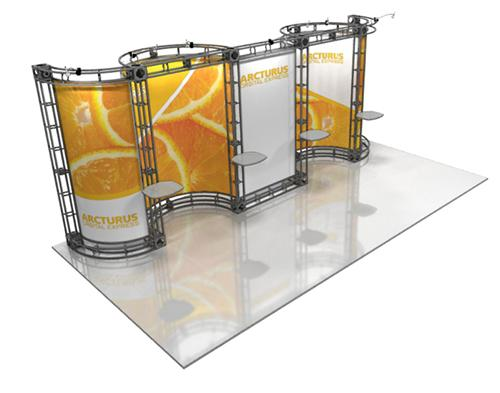 10ft x 20ft Arcturus Truss Trade Show Display