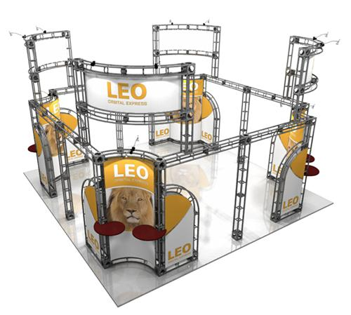 20 x 20 Leo Orbital Truss Display Booth