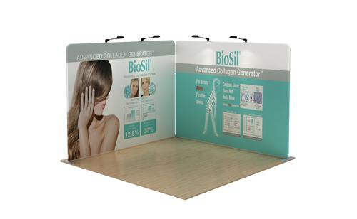 Corner Exhibition Stands Quotes : Ft l shape display corner booth trade show design