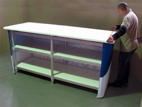 Exhibition Booth Counter : Large rectangle trade show counter exhibition booth