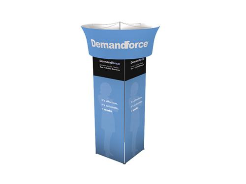 Square Tension Fabric Tower Display For Any Types Of Trade