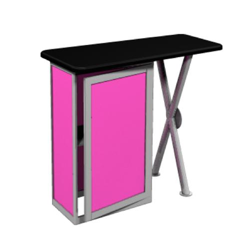 Linear Bold Counter Trade Show Displays on Replacement Legs For Tv Stands