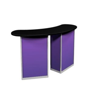 TRADE SHOW COUNTER, PORTABLE PODIUM, EXHIBIT TABLE
