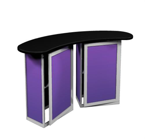 Portable Exhibition Table : Trade show counter portable podium exhibit table