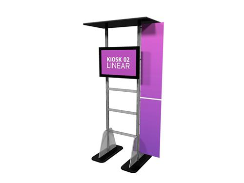 Trade Show Booth Kiosks : Linear information kiosk for trade shows