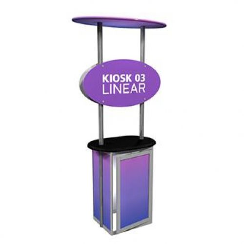 RENTAL LINEAR KIOSK TRADE SHOW BOOTHS