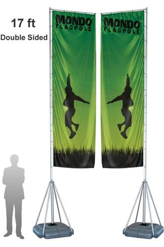 TALL OUTDOOR BANNER STANDS MONDO 17 FT