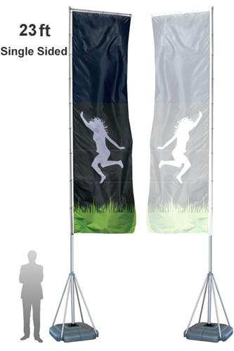 Flag Stand, Outdoor Mondo 23ft Display Stands