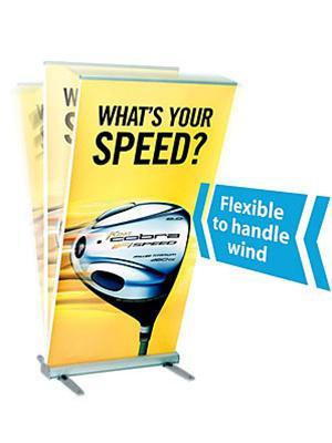 MediaScreen 2 outdoor banner stand II