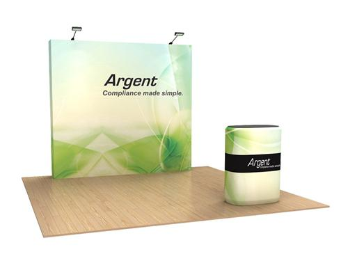 Stretch Fabric Exhibition Stands : Cost effective feet trade show exhibit for any type of