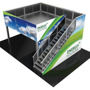 RENTAL-20X20 DOUBLE DECK SYSTEM TRADE SHOW BOOTHS