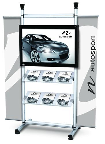 Monitor Dual – Display stand with & shelves