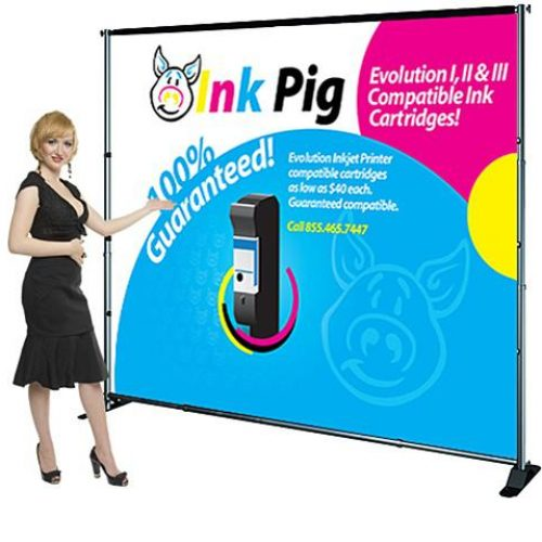 Rental 10' x 100' Backdrop Displays, Exhibit Fabric Banner Stands