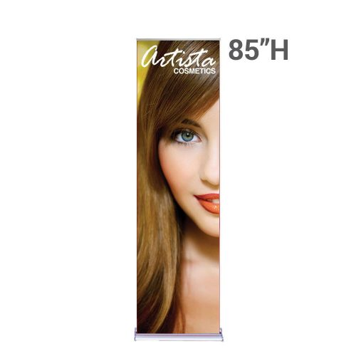 """24""""w x 85""""h Roll Up Stand With Flat Graphic for tradeshows"""