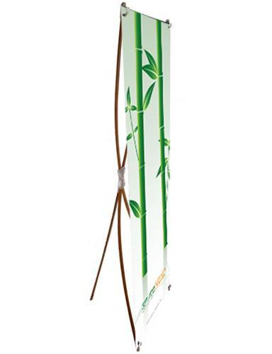 Bamboo x banner stands, green