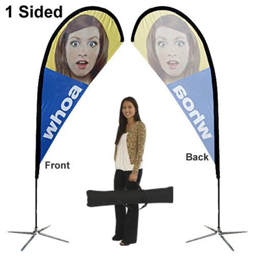 TEARDROP SMALL OUTDOOR BANNER STANDS