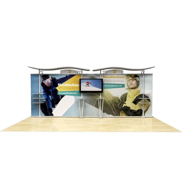 20-ft-timberline-modular-display-w/Wave-top-&-straight-fabric-sides-rental