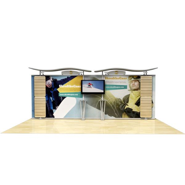 20-ft-timberline-monitor-display-straight-fabric-sides-and-slat-walls-rental
