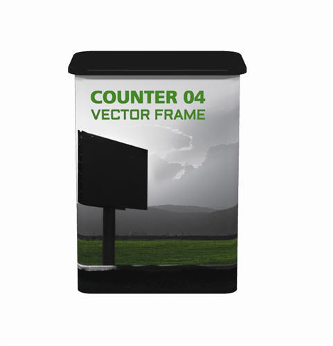 VECTOR FRAME COUNTER TRADE SHOW DISPLAYS