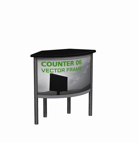 VECTOR FRAME COUNTER TRADE SHOW DISPLAYS