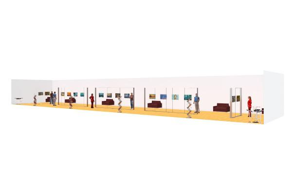 Rental Picture Frame Exhibit Stand