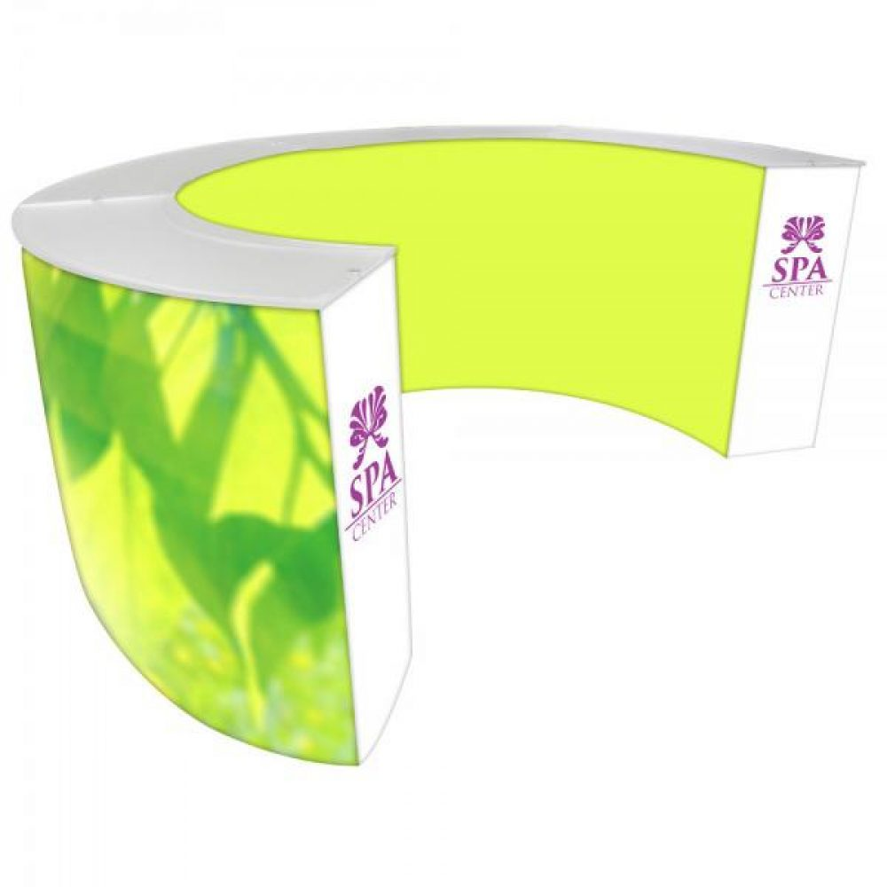 Large Curved Trade Show Counter Vegas