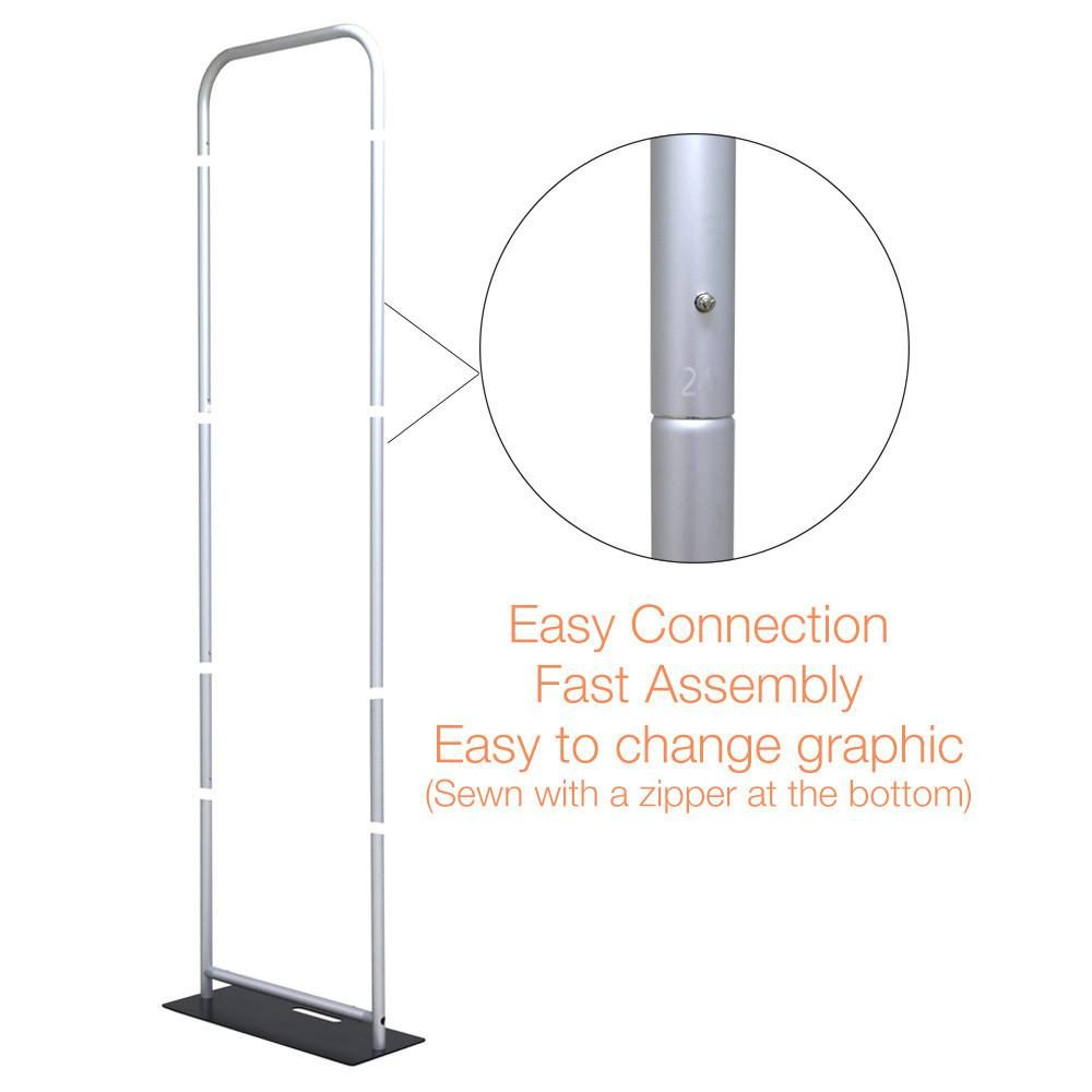 2ft x 7ft double-sided banner stand with double-sided graphic