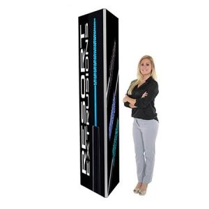 2ft x 8ft Rental Trigangle Trade Show Tower With Graphic Vegas