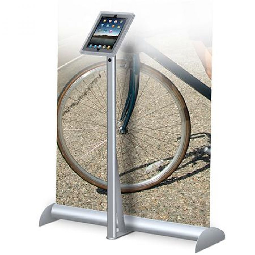 Top Quality iPad Stand with Roll Up Banners Vegas