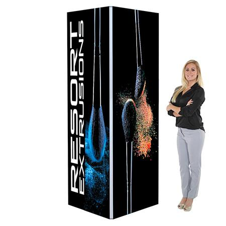 3ft w x 8ft h Backlit Display Tower Graphic Rental Vegas
