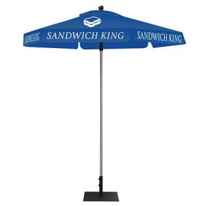 Blue Tent Canopy With Logo Graphics NYC