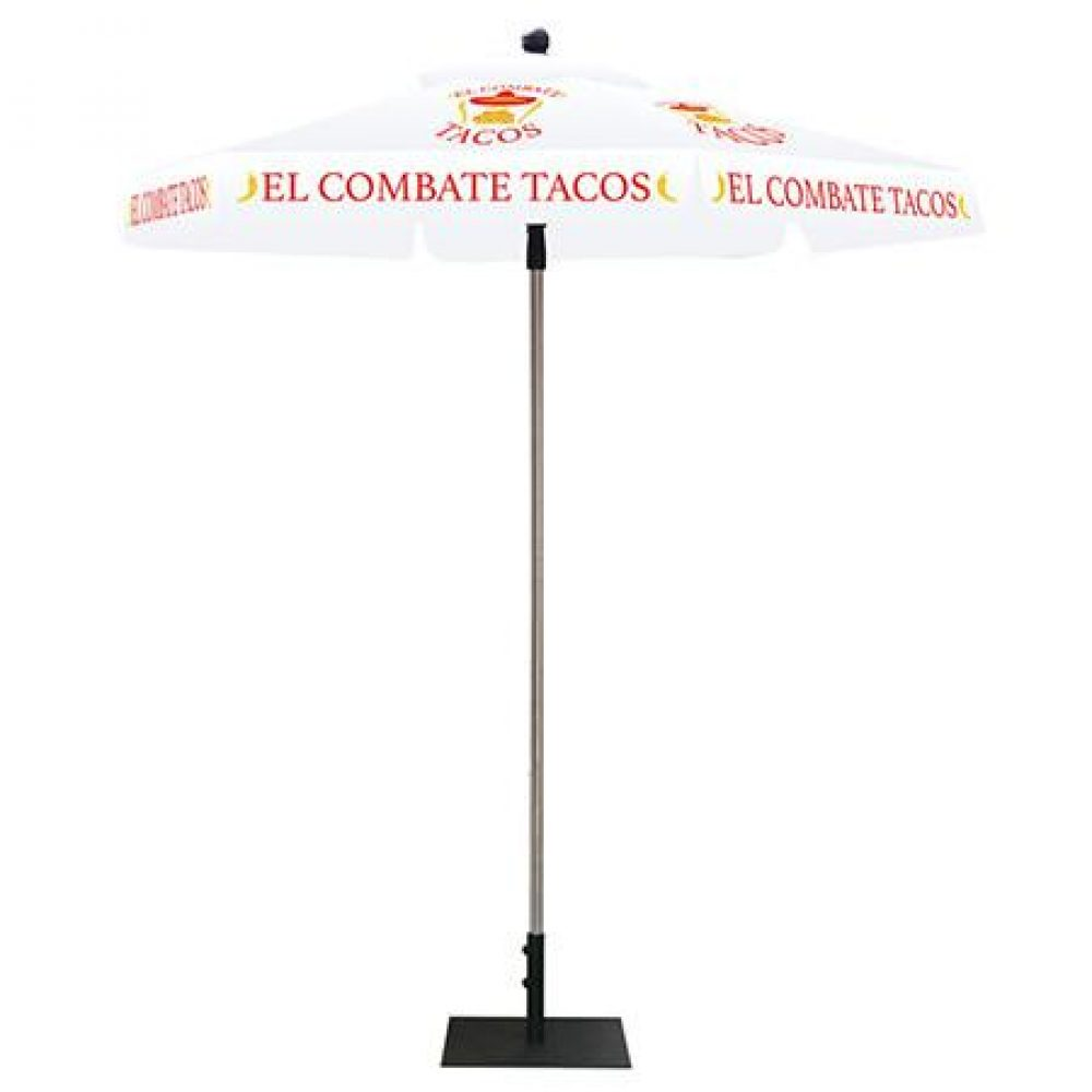 White Umberlla Canopy With Graphics FL