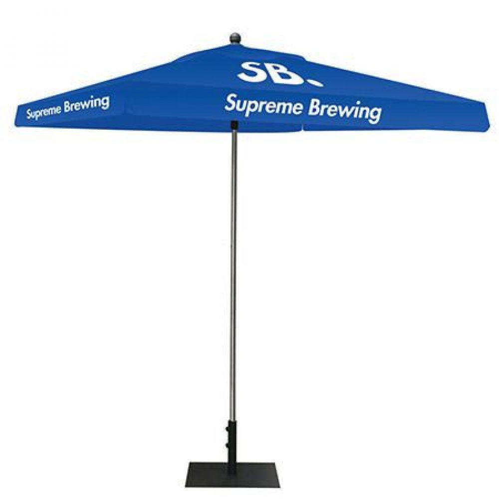 Blue Umbrella Canopy Stand With White Logo LA