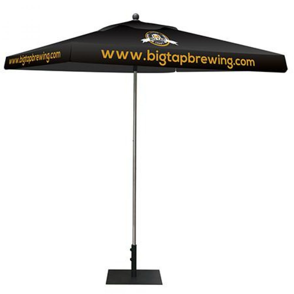 Black Tent Canopy With Logo Graphics New Orleans