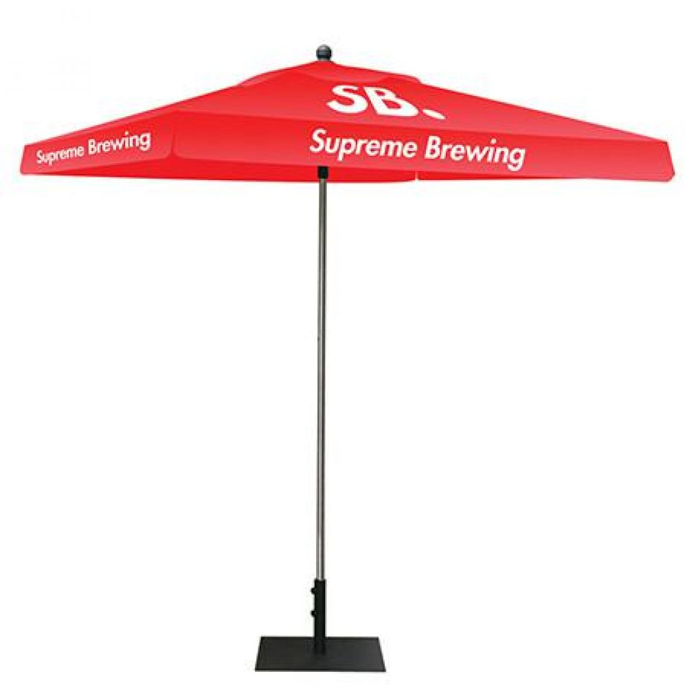 Red Square Umberlla Canopy With Logo Prints FL