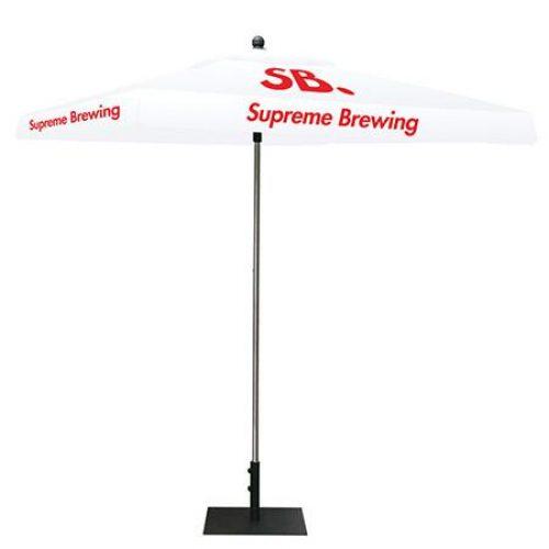 White Square Umbrella Canopy With Logo Graphics