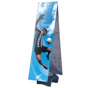 Double Sided Strong Outdoor Banner Stands With Graphic Vegas
