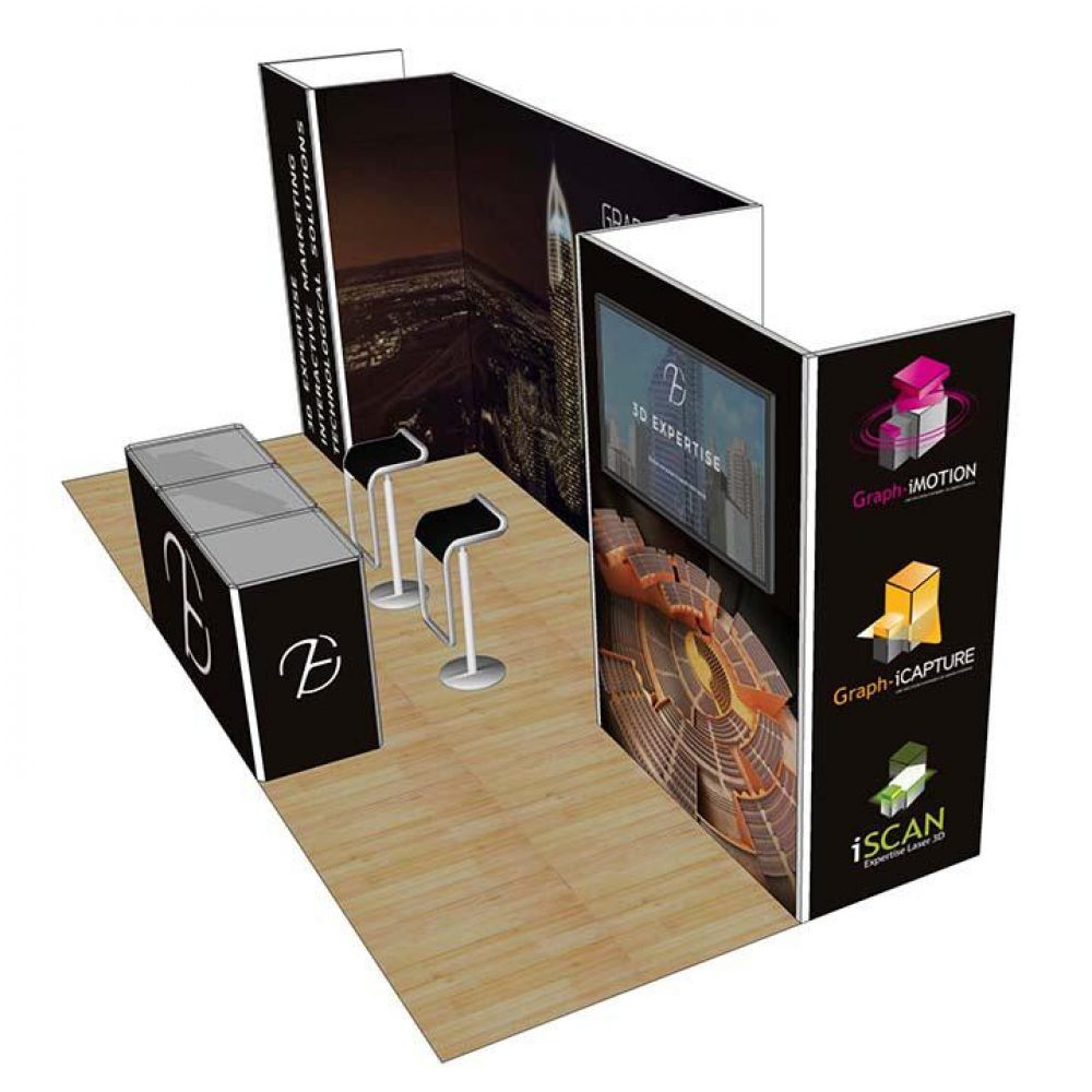 3x6 Exhibition Display Booth Vegas